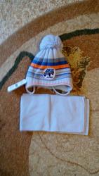 Новый комплект шапка+шарф на мальчика